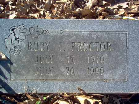 PROCTOR, RUBY L - Cross County, Arkansas | RUBY L PROCTOR - Arkansas Gravestone Photos