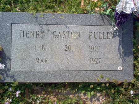 PULLEY, HENRY GASTON - Cross County, Arkansas | HENRY GASTON PULLEY - Arkansas Gravestone Photos