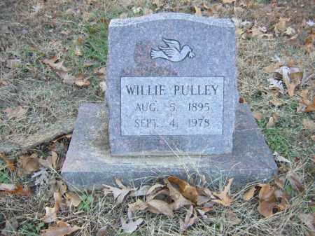 PULLEY, WILLIE - Cross County, Arkansas   WILLIE PULLEY - Arkansas Gravestone Photos