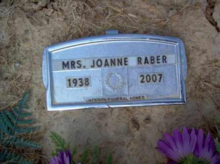 RABER, MRS., JOANNE - Cross County, Arkansas | JOANNE RABER, MRS. - Arkansas Gravestone Photos