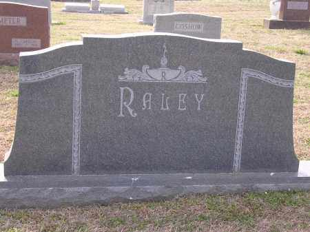 RALEY, PLOT STONE - Cross County, Arkansas | PLOT STONE RALEY - Arkansas Gravestone Photos