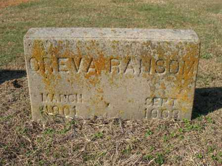 RANSOM, CREVA - Cross County, Arkansas | CREVA RANSOM - Arkansas Gravestone Photos