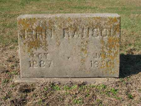 RANSOM, JOHN - Cross County, Arkansas | JOHN RANSOM - Arkansas Gravestone Photos