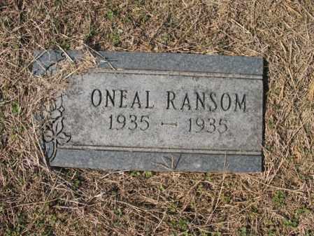 RANSOM, ONEAL - Cross County, Arkansas | ONEAL RANSOM - Arkansas Gravestone Photos