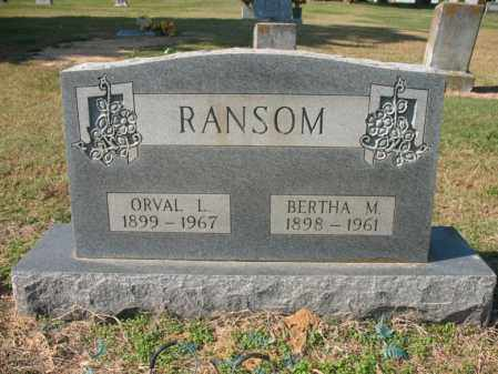 RANSOM, ORVAL L - Cross County, Arkansas | ORVAL L RANSOM - Arkansas Gravestone Photos