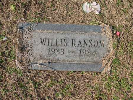 RANSOM, WILLIS - Cross County, Arkansas | WILLIS RANSOM - Arkansas Gravestone Photos