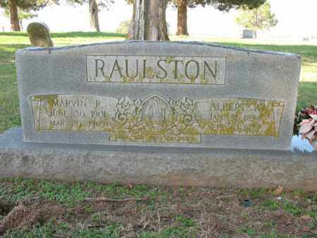 RAULSTON, MARVIN R - Cross County, Arkansas | MARVIN R RAULSTON - Arkansas Gravestone Photos