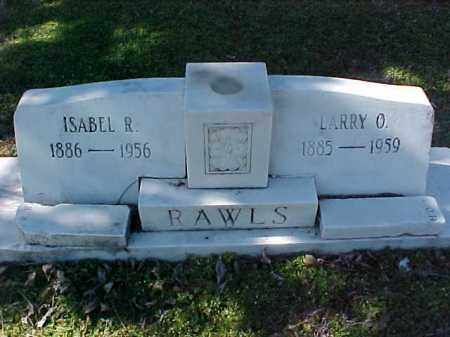 RAWLS, LARRY O - Cross County, Arkansas | LARRY O RAWLS - Arkansas Gravestone Photos