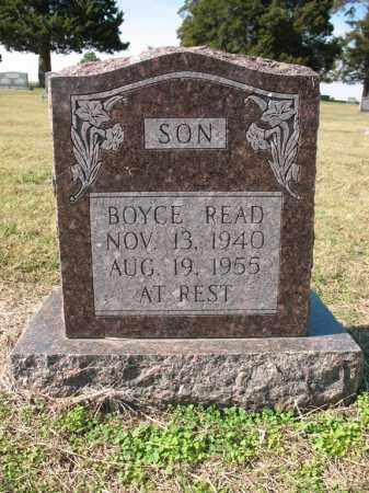 READ, BOYCE - Cross County, Arkansas | BOYCE READ - Arkansas Gravestone Photos