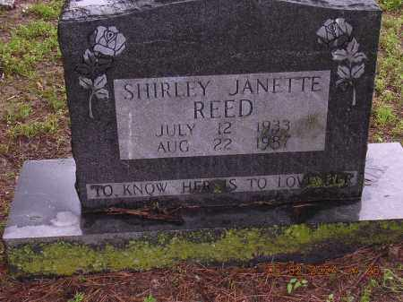 REED, SHIRLEY JANETTE - Cross County, Arkansas | SHIRLEY JANETTE REED - Arkansas Gravestone Photos