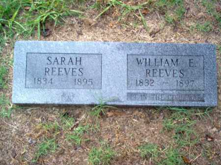 REEVES (VETERAN CSA), WILLIAM E - Cross County, Arkansas | WILLIAM E REEVES (VETERAN CSA) - Arkansas Gravestone Photos
