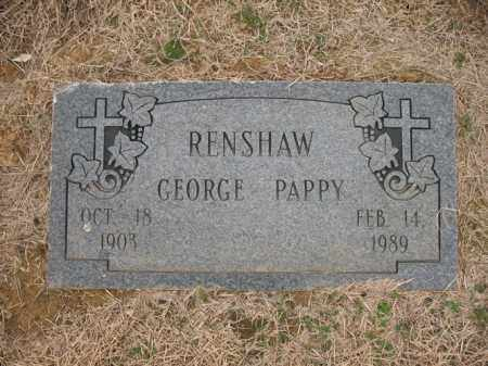 "RENSHAW, GEORGE ""PAPPY"" - Cross County, Arkansas | GEORGE ""PAPPY"" RENSHAW - Arkansas Gravestone Photos"