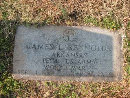 REYNOLDS (VETERAN WWII), JAMES E - Cross County, Arkansas | JAMES E REYNOLDS (VETERAN WWII) - Arkansas Gravestone Photos
