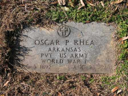 RHEA, SR (VETERAN WWI), OSCAR PRESTON - Cross County, Arkansas | OSCAR PRESTON RHEA, SR (VETERAN WWI) - Arkansas Gravestone Photos