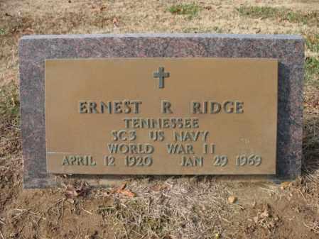 RIDGE (VETERAN WWII), ERNEST R - Cross County, Arkansas | ERNEST R RIDGE (VETERAN WWII) - Arkansas Gravestone Photos