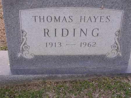 RIDING, THOMAS HAYES - Cross County, Arkansas | THOMAS HAYES RIDING - Arkansas Gravestone Photos