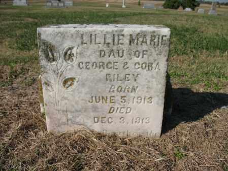 RILEY, LILLIE MARIE - Cross County, Arkansas | LILLIE MARIE RILEY - Arkansas Gravestone Photos