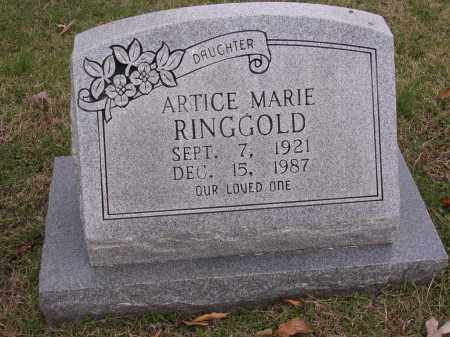 RINGGOLD, ARTICE MARIE - Cross County, Arkansas | ARTICE MARIE RINGGOLD - Arkansas Gravestone Photos