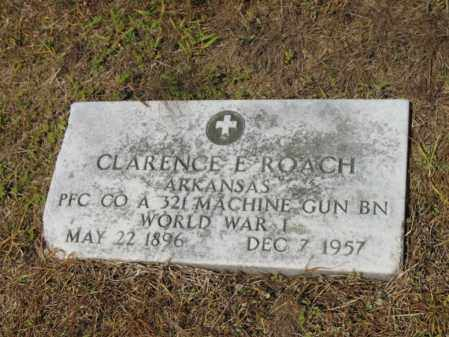 ROACH (VETERAN WWI), CLARENCE E - Cross County, Arkansas | CLARENCE E ROACH (VETERAN WWI) - Arkansas Gravestone Photos