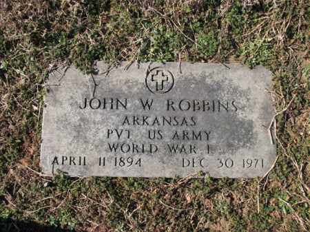 ROBBINS (VETERAN WWI), JOHN W - Cross County, Arkansas | JOHN W ROBBINS (VETERAN WWI) - Arkansas Gravestone Photos