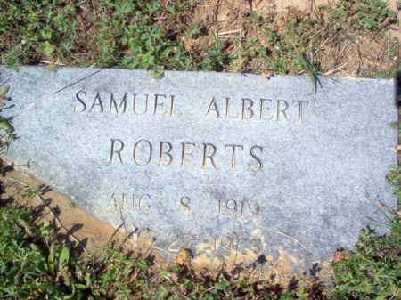 ROBERTS, SAMUEL ALBERT - Cross County, Arkansas | SAMUEL ALBERT ROBERTS - Arkansas Gravestone Photos