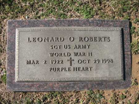 ROBERTS (VETERAN WWII), LEONARD O - Cross County, Arkansas | LEONARD O ROBERTS (VETERAN WWII) - Arkansas Gravestone Photos