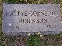 ROBINSON, HATTYE CORNELIUS - Cross County, Arkansas | HATTYE CORNELIUS ROBINSON - Arkansas Gravestone Photos