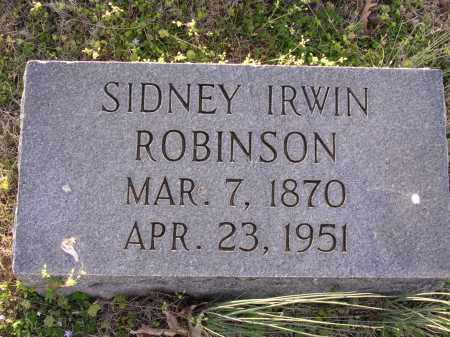 ROBINSON, SIDNEY IRWIN - Cross County, Arkansas | SIDNEY IRWIN ROBINSON - Arkansas Gravestone Photos