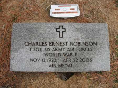 ROBINSON (VETERAN WWII), CHARLES ERNEST - Cross County, Arkansas | CHARLES ERNEST ROBINSON (VETERAN WWII) - Arkansas Gravestone Photos