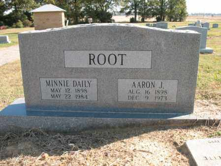 DAILY ROOT, MINNIE - Cross County, Arkansas | MINNIE DAILY ROOT - Arkansas Gravestone Photos