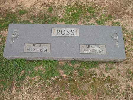 ROSS, W A - Cross County, Arkansas | W A ROSS - Arkansas Gravestone Photos