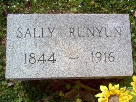 RUNYUN, SALLY - Cross County, Arkansas | SALLY RUNYUN - Arkansas Gravestone Photos