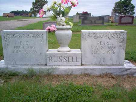 RUSSELL, E D - Cross County, Arkansas | E D RUSSELL - Arkansas Gravestone Photos