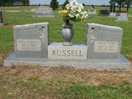 RUSSELL, NORA REBECCA - Cross County, Arkansas | NORA REBECCA RUSSELL - Arkansas Gravestone Photos