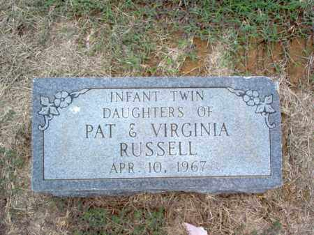RUSSELL, TWIN DAUGHTERS - Cross County, Arkansas | TWIN DAUGHTERS RUSSELL - Arkansas Gravestone Photos