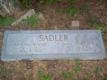 SADLER, RICHARD WESLEY - Cross County, Arkansas | RICHARD WESLEY SADLER - Arkansas Gravestone Photos