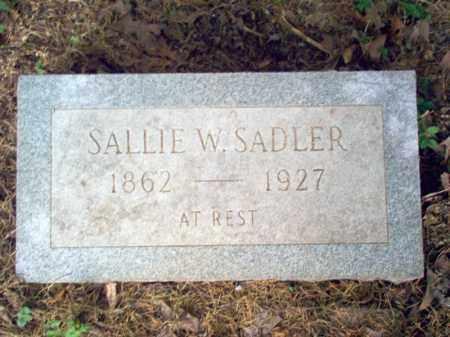 SADLER, SALLIE W - Cross County, Arkansas | SALLIE W SADLER - Arkansas Gravestone Photos