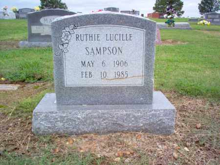SAMPSON, RUTHIE LUCILLE - Cross County, Arkansas | RUTHIE LUCILLE SAMPSON - Arkansas Gravestone Photos