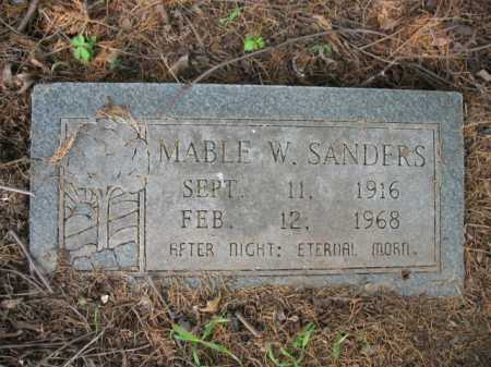 SANDERS, MABLE W - Cross County, Arkansas | MABLE W SANDERS - Arkansas Gravestone Photos