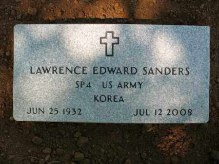 SANDERS (VETERAN KOR), LAWRENCE EDWARD - Cross County, Arkansas | LAWRENCE EDWARD SANDERS (VETERAN KOR) - Arkansas Gravestone Photos