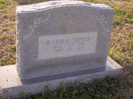 SARVER, B LENIAL - Cross County, Arkansas | B LENIAL SARVER - Arkansas Gravestone Photos