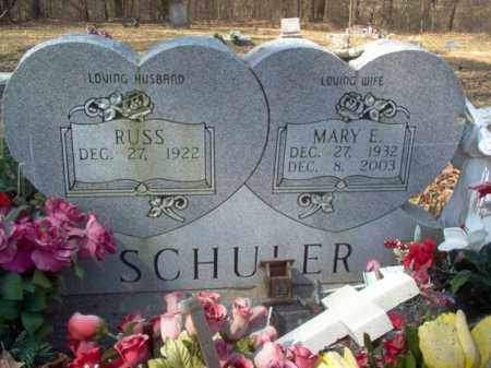SCHULER, MARY E - Cross County, Arkansas | MARY E SCHULER - Arkansas Gravestone Photos
