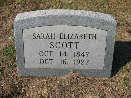 SCOTT, SARAH ELIZABETH - Cross County, Arkansas | SARAH ELIZABETH SCOTT - Arkansas Gravestone Photos