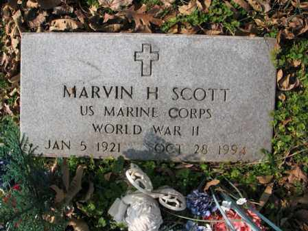 SCOTT (VETERAN WWII), MARVIN HOWARD - Cross County, Arkansas | MARVIN HOWARD SCOTT (VETERAN WWII) - Arkansas Gravestone Photos