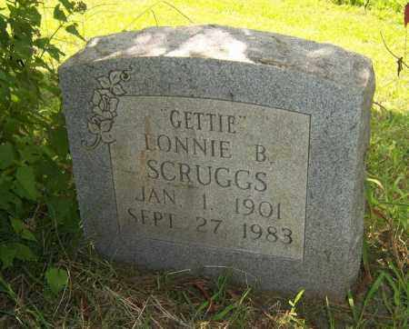 "SCRUGGS, LONNIE B ""GETTIE"" - Cross County, Arkansas 