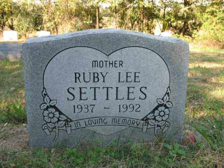 SETTLES, RUBY LEE - Cross County, Arkansas | RUBY LEE SETTLES - Arkansas Gravestone Photos