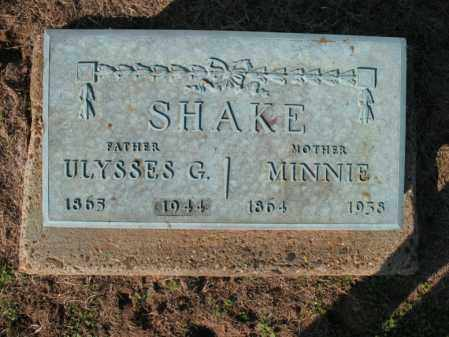SHAKE, ULYSSES G - Cross County, Arkansas | ULYSSES G SHAKE - Arkansas Gravestone Photos