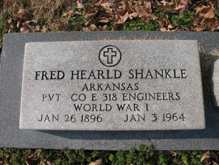 SHANKLE (VETERAN WWI), FRED HEARLD - Cross County, Arkansas | FRED HEARLD SHANKLE (VETERAN WWI) - Arkansas Gravestone Photos