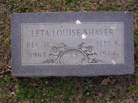 SHAVER, LETA LOUISE - Cross County, Arkansas | LETA LOUISE SHAVER - Arkansas Gravestone Photos