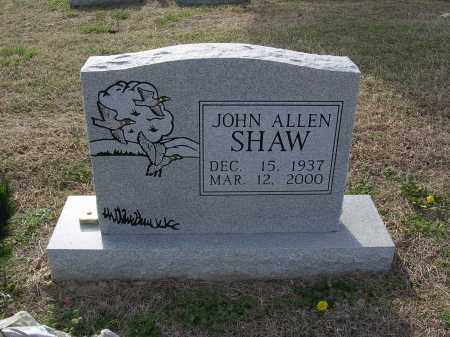 SHAW, JOHN ALLEN - Cross County, Arkansas | JOHN ALLEN SHAW - Arkansas Gravestone Photos
